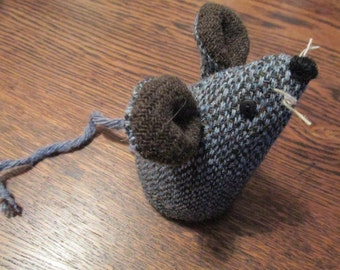 Handmade 100% Tweed mouse - Name: 'Marcus'