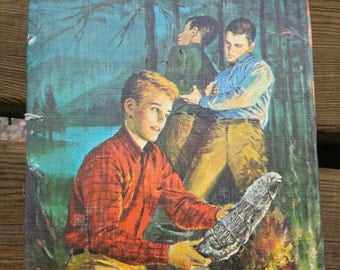 Handmade Journal with Open Spine from Vintage Hardy Boys Book