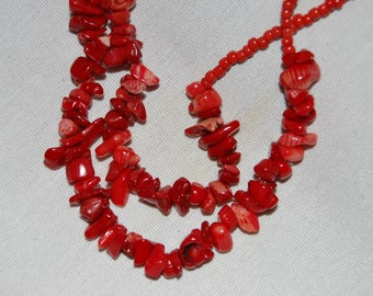 Red Coral Double Strand