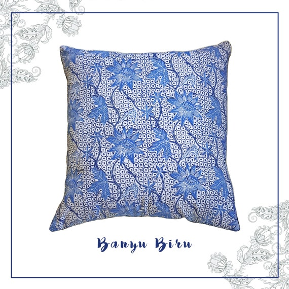 Banyu Biru Batik Cushion Cover | Throw Pillow | Ethnic | Javanese ...