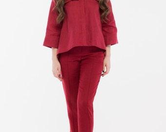 Linen Blouse-Handmade-Women's Linen Clothing