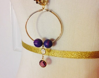 Gold Chain Charm Necklace