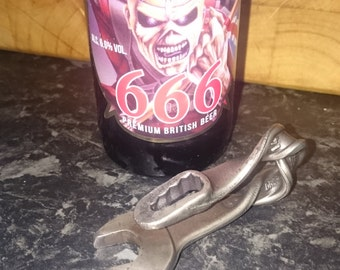 hand forged spanner bottle opener