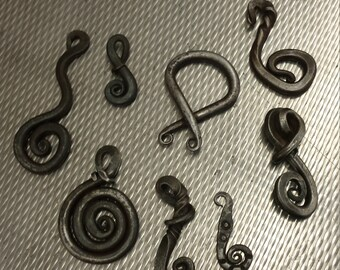 Hand forged necklace pendants