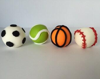 Sports Fondant Balls Set of 4 Pieces