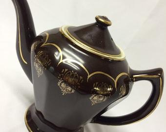 Hall Mahogany Teapot