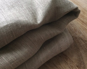 Linen Fabric, natural, eco-friendly, unbleached brown material.