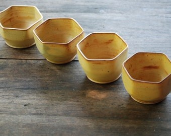 Set of 4 Honeycomb Bowls