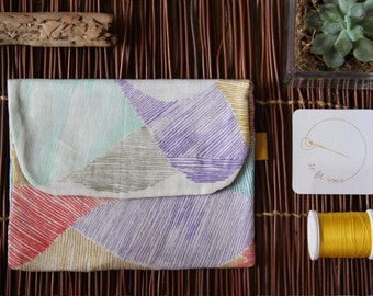 Flap pocket flat / multicolor fabric Kit / small package