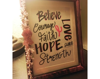 Breast Cancer Photo Frame
