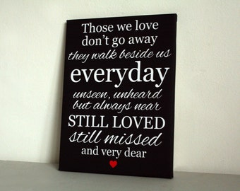 Personalised in memory remembrance large canvas picture print heaven funeral keepsake still loved still missed quote