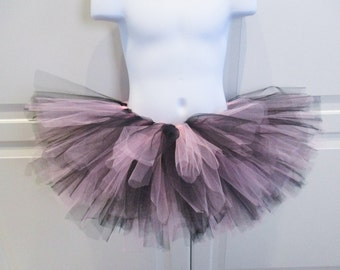 Black and Light Pink Tutu - Other Colors Available