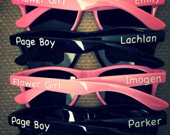 Personalised Sunglasses flower Girl Page Boy for Wedding