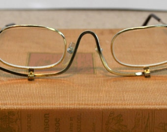 Flip Down Glasses Vintage Make Up Magnifier Spectacles Reading Glasses