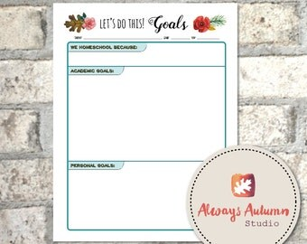 Printable Homeschool Goal Planner - Four Seasons Collection