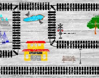 Train track town