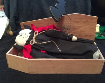 Vintage Dracula in Coffin