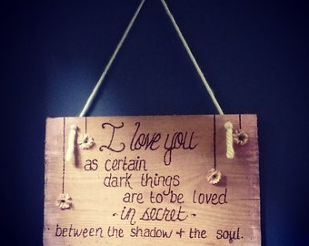 Red Oak Woodburned Quote
