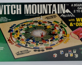 Vintage Witch Mountain with Witches and Dragons Board Game New Old Stock 1983