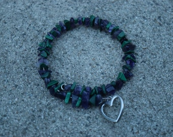 Multicolored Rock Bead Bracelet