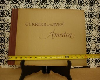 Currier and Ives America Coffee Table Book