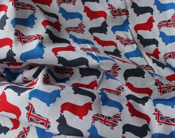 Corgi Cotton Fabric