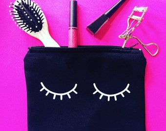 Black Lashes Cosmetic Bag