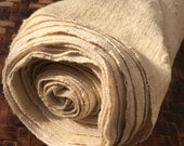 Japanese Homespun and Handwoven Undyed Natural Cotton Fabric Bolt