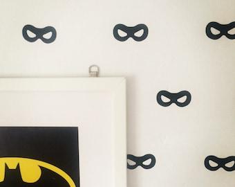 Superhero Mask Decals~ Superhero Decals~ Superhero Wall Stickers~ Superhero Decor~ Wall Stickers~ Nursery Wall Stickers~ Nursery Decor