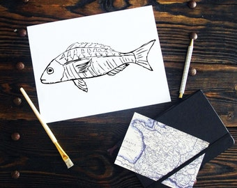 Fish Black & White