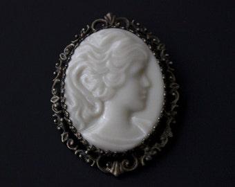 Vintage Lenox Sterling Silver Cameo Brooch or Necklace