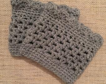 SALE Scalloped Crochet Boot Cuffs
