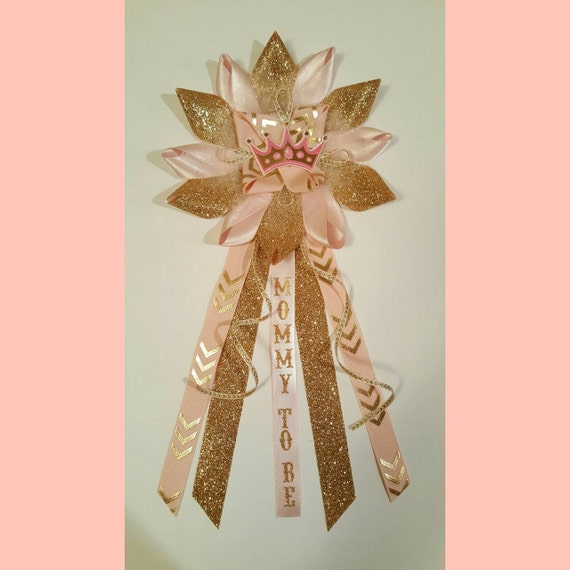pink and gold baby shower corsage mommy to be corsage pink and gold