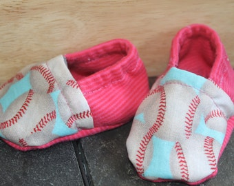 Handmade soft soled baby shoes