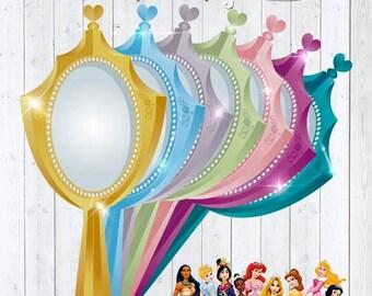 Invitation mirror princesses Disney printable - Invitation Mirror Princess Disney Printable