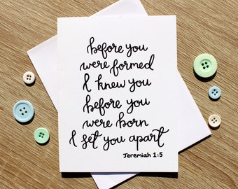 Before You Were Formed A6 card (Free U.K. shipping)