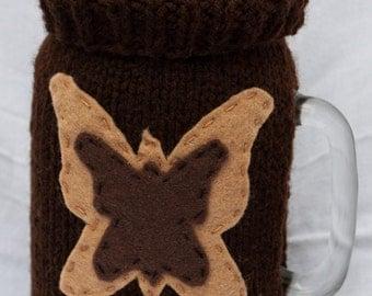 Hand Knit Mason Jar Cover