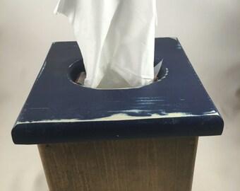 Tissue box cover small box distressed top