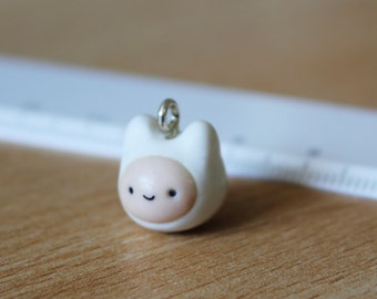 Finn the Human polymer clay charm Adventure Time