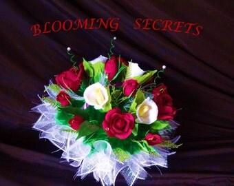 Roses, Calla lilies Arrangement