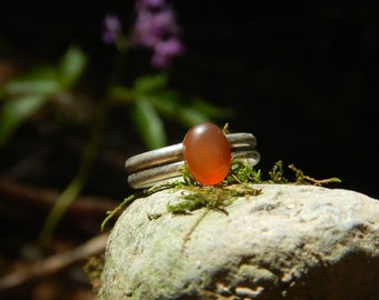 Ring Agate & 925 Silver