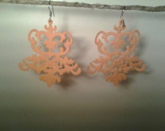 Chandelier earrings pressed sponge