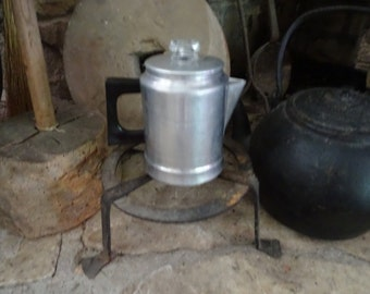Percolator Coffee Pot, Camp, Cabin cooking