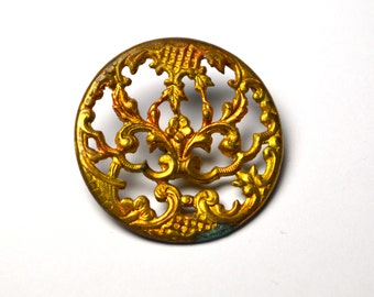 Vintage Gilt Button