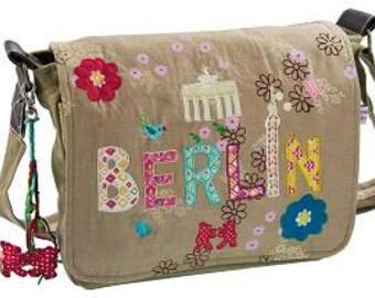 "Canvas shoulder bag ""Berlin Flowers"""