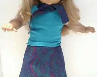 "18"" Doll Skirt, Shirt, and Scarf"