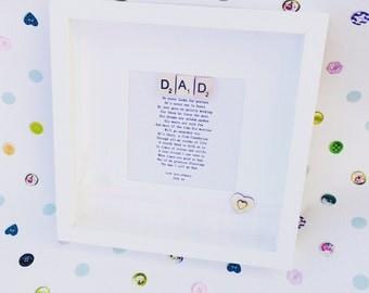 Fathers poem framed
