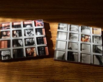 David Bowie Mosaic Coasters (Set of 2)