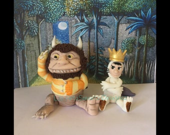 Where the Wild Things Are Cake Topper Fondant Gumpaste Cake Decoration