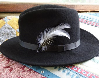 Black Fedora Hat Size Medium